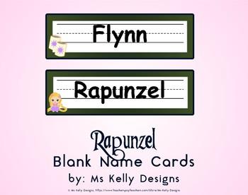 Rapunzel Blank Name Cards