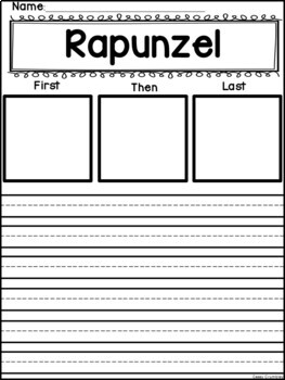 Rapunzel Book Study Graphic Organizers