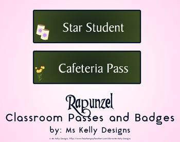 Rapunzel Classroom Passes and Badges