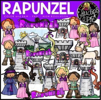 Rapunzel Clip Art Bundle {Educlips Clipart}