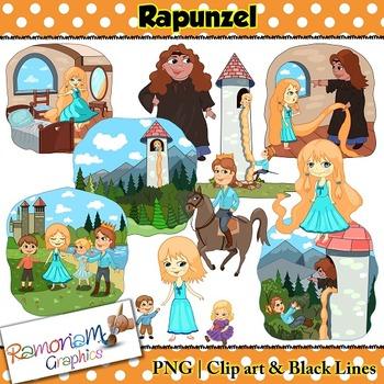 Rapunzel Clip art