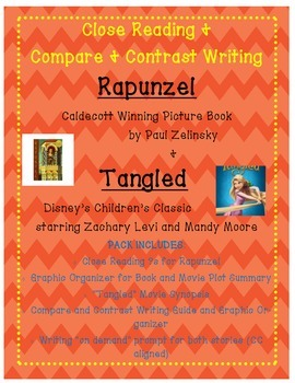 Rapunzel Close Reading and Paired Writing Mini Unit