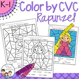 Rapunzel Color by CVC Word