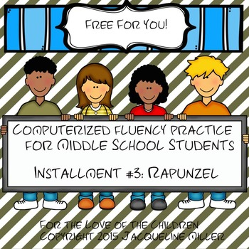 FREE Interactive PowerPoint Fluency Practice for MS Students:Rapunzel