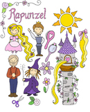 Rapunzel Fairytale Clipart Set {KT Creates Original}