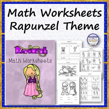 Math Worksheets Rapunzel Theme