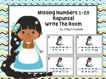 Rapunzel Missing Numbers 1-20
