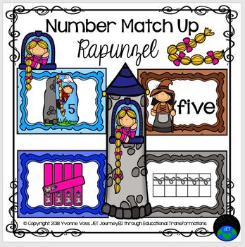 Rapunzel Number Match Up