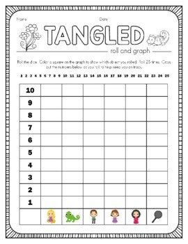 Disney Inspired Rapunzel Roll and Graph Activity