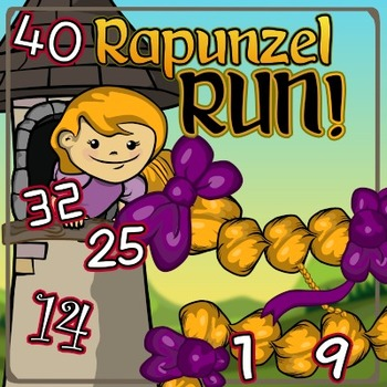 Rapunzel Run – a Chutes & Ladders-style Counting Game