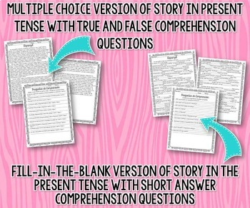 Present Tense Story Worksheet (Rapunzel)