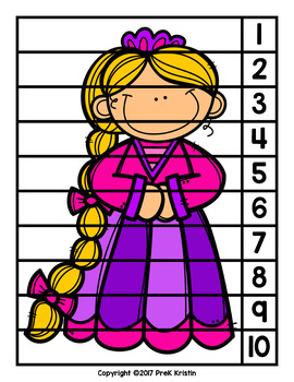 Rapunzel (Fairy Tale) Skip Counting Number Puzzles
