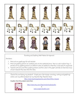 Rapunzel Sorting, Counting and Graphing Math Station