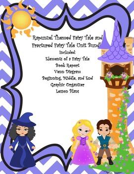 Rapunzel Themed Fairy Tale and Fractured Fairy Tale Unit Bundle