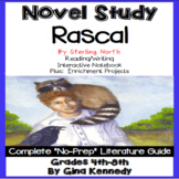 Rascal Novel Study + Enrichment Project Menu