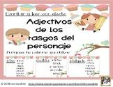 Rasgos de personaje Variedad de Palabras -Character Trait Word Choices Spanish
