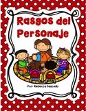 Character Traits (SPANISH Rasgos del Personaje) Recurso para Doble Idioma
