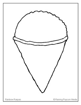 snow cone coloring pages - photo#2