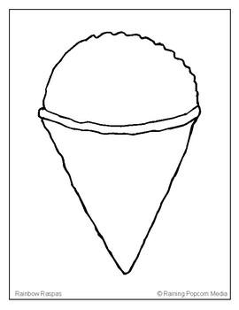 Raspas (Snow Cone) Coloring Page