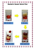 Raspberry Dessert Recipe Flyer