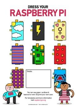 Raspberry Pi Poster - Design a Case - High Quality - Space to Write