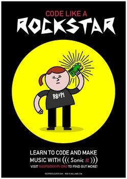 Raspberry Pi Rockstar Poster - High Quality