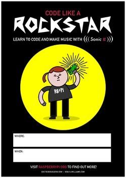 Raspberry Pi Rockstar Poster - High Quality - Space to Write