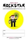 Raspberry Pi Rockstar Poster - High Quality - White