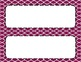 Raspberry Tile Classroom Labels and Tags