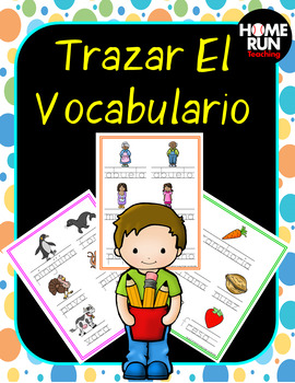 Rastreo de Vocabulario (Tracing Vocabulary Words in Spanish)