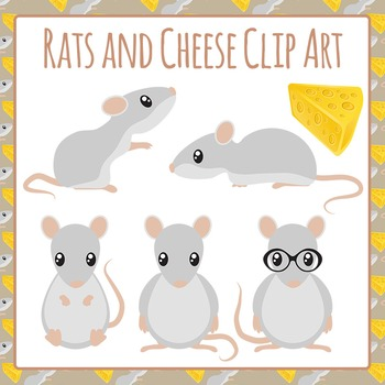 Rat Clip Art Pack for Commercial Use