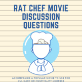 Rat Chef Movie Questions (for Culinary, Hospitality, Cooki