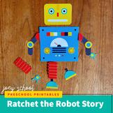 Ratchet the Robot, Board Story + Activity, Literacy, SEL,