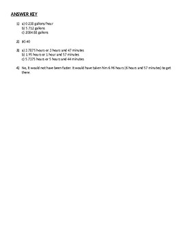 Rate Problems Homework