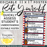 Marzano Based Rate Self: Student Rating Scale {Multicultural}