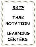 Rate Task Rotation/Math Centers