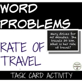 Rational Function Task Card Activity Rate of Travel Word Problems