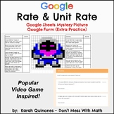 Distance Learning Digital Rate Unit Rate Mystery Picture