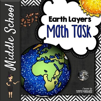 Rate, Unit Rate, & Proportions - Layers of the Earth Math Task