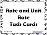 Rate, Unit Rate, Unit Cost, d=rt,Task Cards