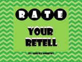 Rate Your Retell {Four Star Rating Scale Posters}