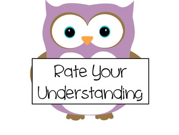 Rate Your Understanding- Owl Theme