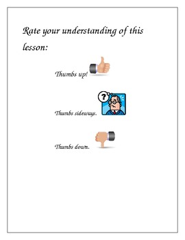 Rate Your Understanding Posters