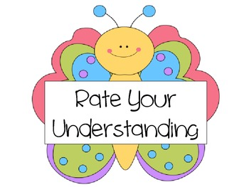 Rate Your Understanding- Butterfly Theme
