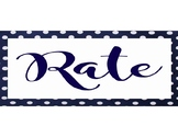 Rate Yourself - Personal Student Assessment