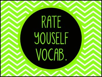 Rate Yourself Vocabulary