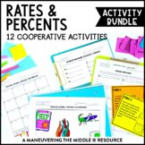 Percents Unit Activity Bundle - 6.RP.2, 6.RP.3