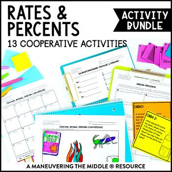 Percents Unit Activity Bundle - 6.RP.2, 6.RP.3