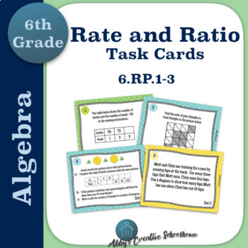 6.RP.1 - 3 Rate and Ratio Differentiated Task Cards