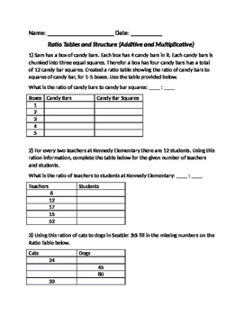 Rate and Ratio Word Problems